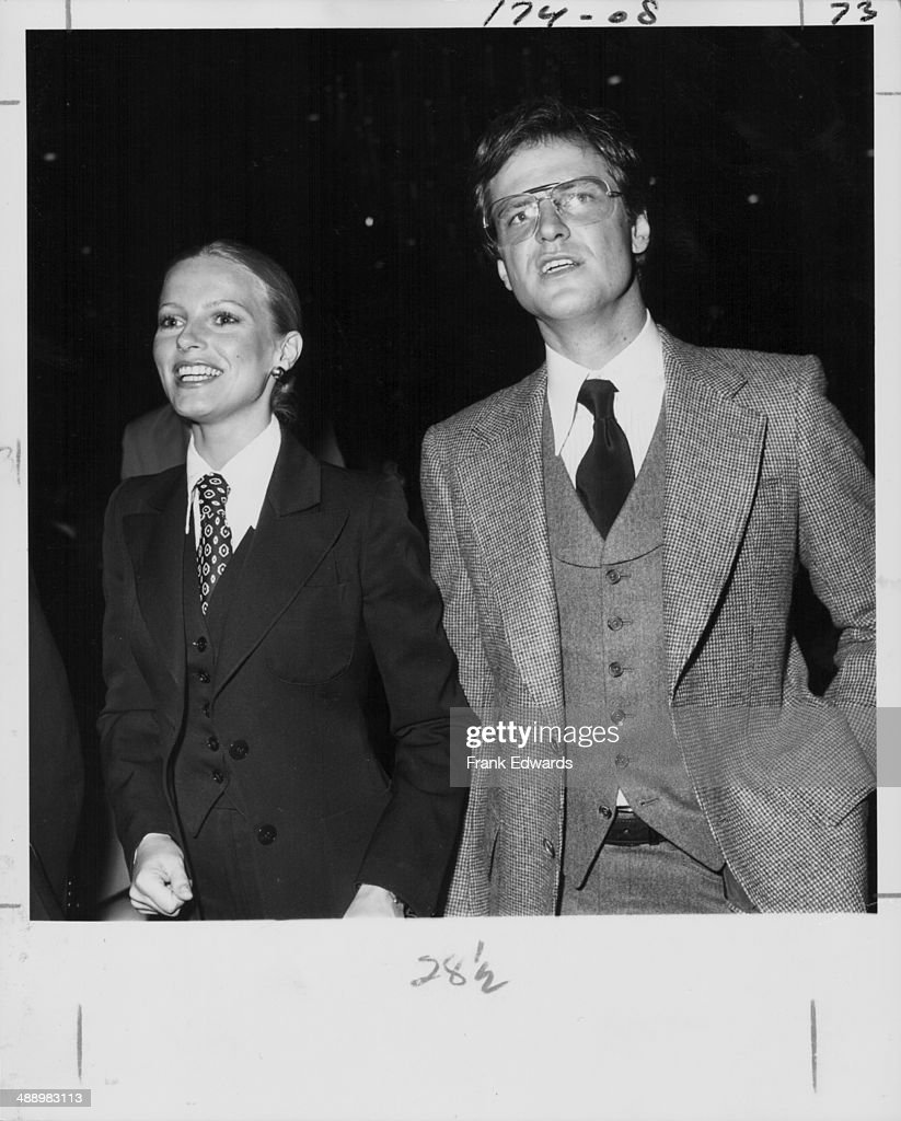 Actress Cheryl Ladd with her husband David attending the Writer's Guild Awards at the Beverly Hills Hotel California circa 19731980