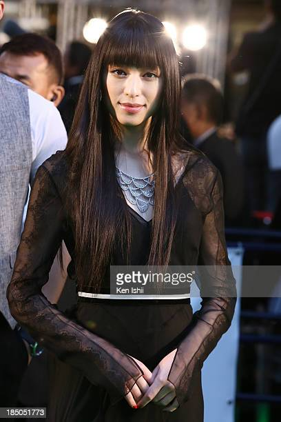 Actress Chiaki Kuriyama attends the Tokyo International Film Festival Opening Ceremony on October 17 2013 in Tokyo Japan