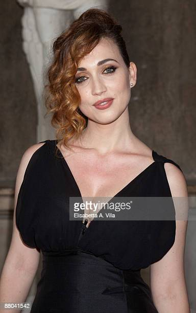 Actress Chiara Francini attends 2009 Nastri D'Argento Nominations Dinner Party at Villa Medici on May 28 2009 in Rome Italy