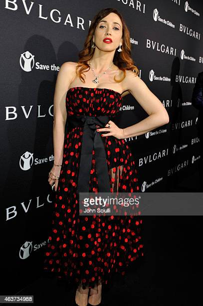 Actress Chiara Francini attends BVLGARI and Save The Children STOP THINK GIVE PreOscar Event at Spago on February 17 2015 in Beverly Hills California
