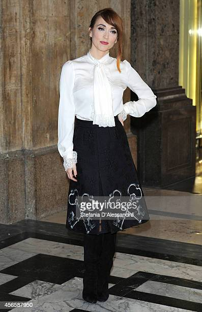 Actress Chiara Francini attends 'Tutto Molto Bello' Photocall on October 3 2014 in Milan Italy