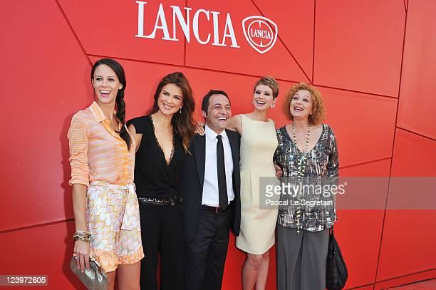 Actress Chiara Martegiani actress Monica Barladeanu director Fabrizio Cattani actress Andrea Osvart and actress Marina Pennafina attend the...