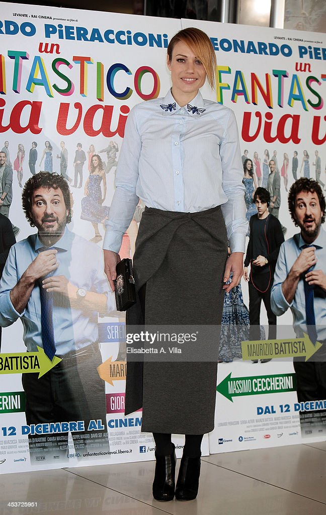 Actress Chiara Mastalli attends an 'Un Fantastico Via Vai' photocall at Cinema Adriano on December 5, 2013 in Rome, Italy.