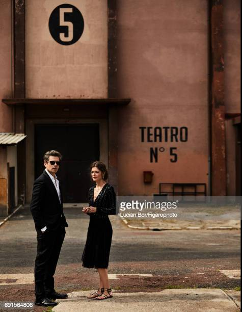 Actress Chiara Mastroianni and singer/songwriter Benjamin Biolay are photographed for Madame Figaro on April 5 2017 in Rome Italy Biolay Jacket pants...