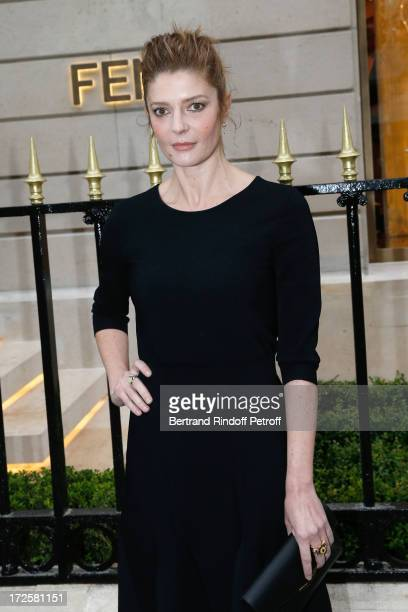 Actress Chiara Mastroianni attend the Avenue Montaigne Fendi new shop opening party which will be followeed by 'The Glory Of Water' Karl Lagerfeld's...