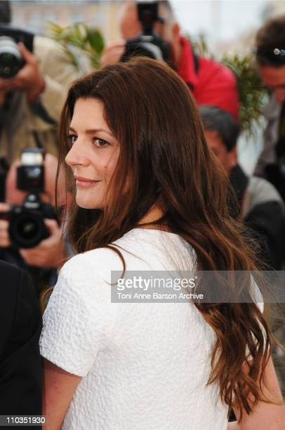 Actress Chiara Mastroianni attend the Un Conte de Noel photocall at the Palais des Festivals during the 61st Cannes International Film Festival on...