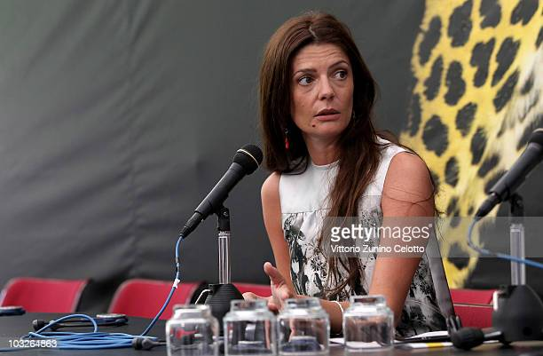 Actress Chiara Mastroianni attends the Excellence Award Moet Chandon press conference during the 63rd Locarno Film Festival on August 6 2010 in...