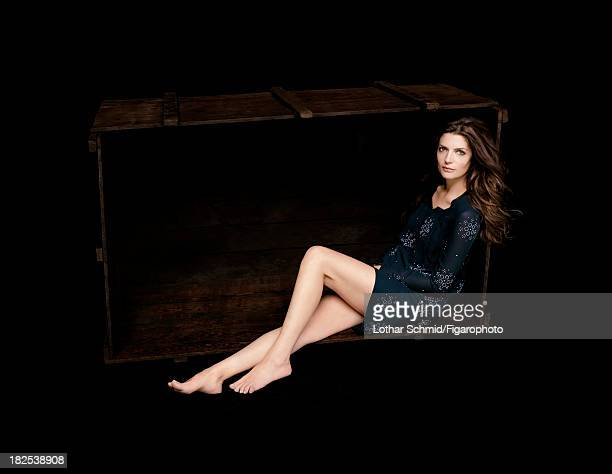 076525004 Actress Chiara Mastroianni is photographed for Madame Figaro on May 31 2007 in Paris France Dress Makeup by Sisley PUBLISHED IMAGE CREDIT...