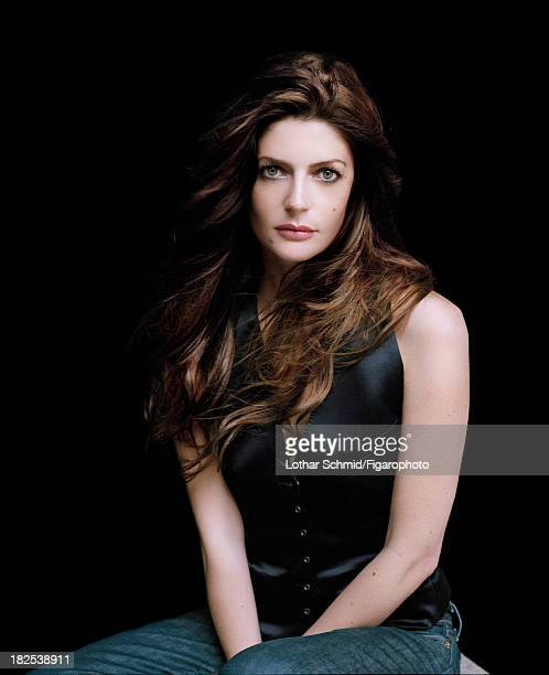 076525005 Actress Chiara Mastroianni is photographed for Madame Figaro on May 31 2007 in Paris France Top jeans Makeup by Sisley COVER IMAGE CREDIT...