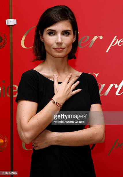 Actress Chiara Muti attends the Loveday celebration and Cartier Love Charity Bracelet launch held at Boutique Cartier on June 19 2008 in Milan Italy