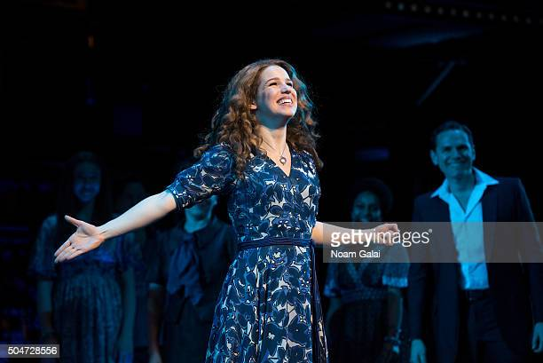 Actress Chilina Kennedy performs in Broadway's 'Beautiful The Carole King Musical' in celebration of the shows two year anniversary at Stephen...