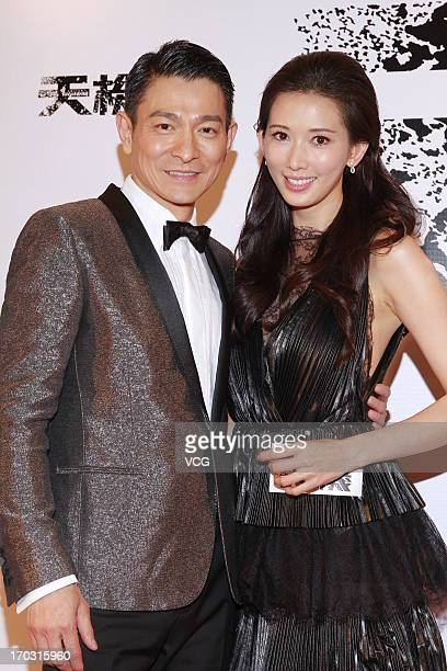 Actress Chiling Lin and actor Andy Lau attend 'Switch' premiere at Millennium City on June 10 2013 in Hong Kong Hong Kong