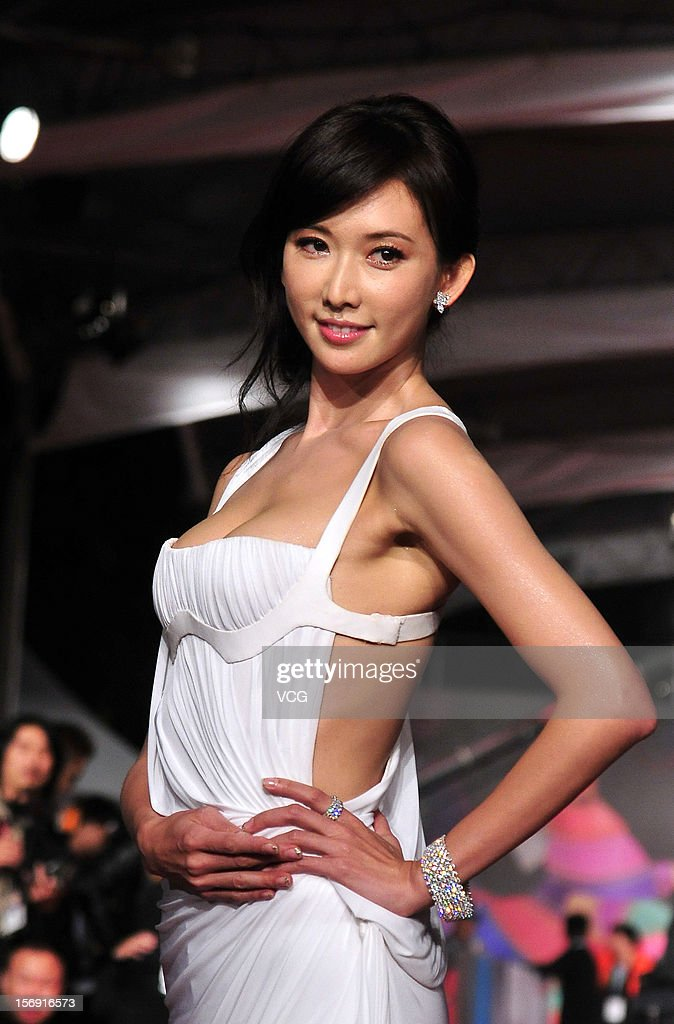 Actress Chiling Lin arrives at the red carpet of the 49th Golden Horse Awards at the Luodong Cultural Working House on November 24, 2012 in Ilan, Taiwan.