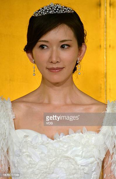 Actress Chiling Lin attends 'Say Yes' press conference at Nikko hotel on October 9 2013 in Tokyo Japan