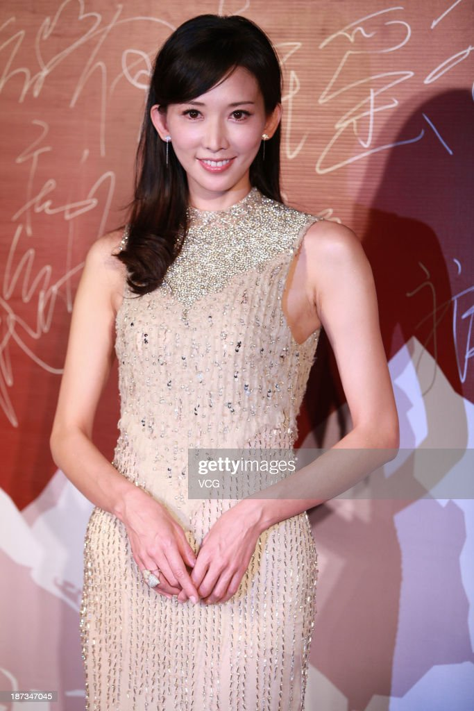 Actress Chiling Lin attends 'Sweetheart Chocolate' press conference at Crowne Plaza Hotel on November 7 2013 in Beijing China