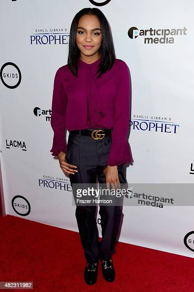 Actress China Anne McClain arrives at the Screening of GKIDS' 'Kahlil Gibran's The Prophet' at Bing Theatre At LACMA on July 29 2015 in Los Angeles...