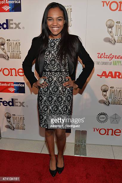 Actress China Anne McClain attends the 45th NAACP Awards NonTelevised Awards Ceremony at the Pasadena Civic Auditorium on February 21 2014 in...