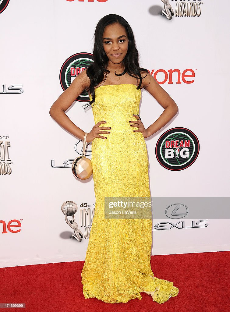 Actress China Anne McClain attends the 45th NAACP Image Awards at Pasadena Civic Auditorium on February 22 2014 in Pasadena California