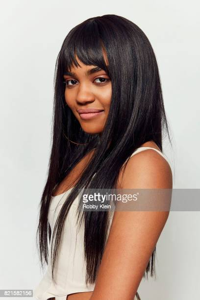 Actress China Anne McClain from CW's 'Black Lightning' poses for a portrait during ComicCon 2017 at Hard Rock Hotel San Diego on July 22 2017 in San...