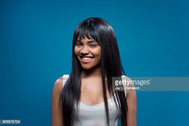 Actress China Anne McClain from the television series 'Black Lightning' is photographed in the LA Times photo studio at ComicCon 2017 in San Diego CA...