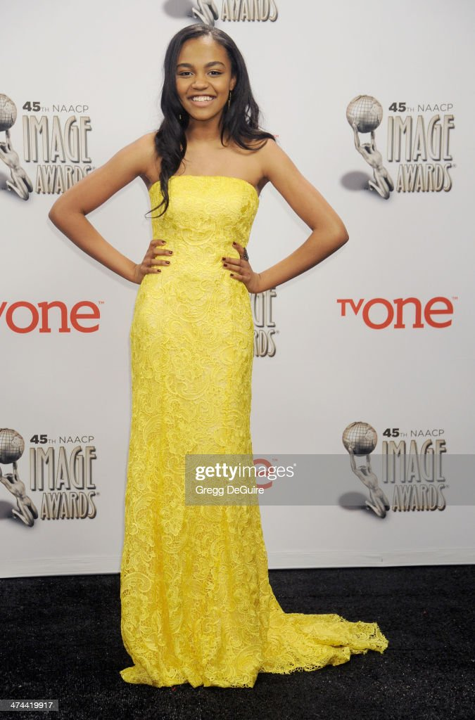 Actress <a gi-track='captionPersonalityLinkClicked' href=/galleries/search?phrase=China+Anne+McClain&family=editorial&specificpeople=4142795 ng-click='$event.stopPropagation()'>China Anne McClain</a> poses in the press room at the 45th NAACP Image Awards at Pasadena Civic Auditorium on February 22, 2014 in Pasadena, California.
