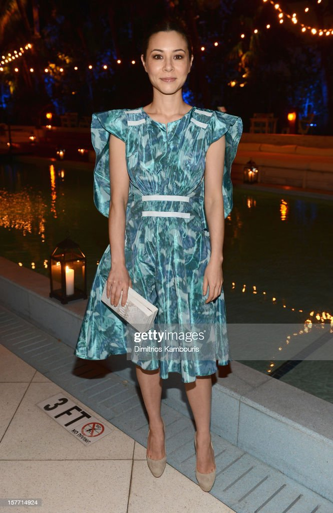 Actress China Chow attends a dinner and auction hosted by CHANEL to benefit the Henry Street Settlement at Soho Beach House on December 5, 2012 in Miami Beach, Florida.