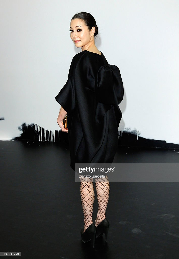 """Actress China Chow attends """"Yesssss!"""" MOCA Gala 2013, Celebrating the Opening of the Exhibition Urs Fischer, at MOCA Grand Avenue and The Geffen Contemporary on April 20, 2013 in Los Angeles, California."""