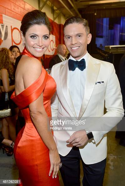 Actress Chiquinquira Delgado and TV personality Rodner Figueroa attends The 14th Annual Latin GRAMMY Awards at the Mandalay Bay Events Center on...