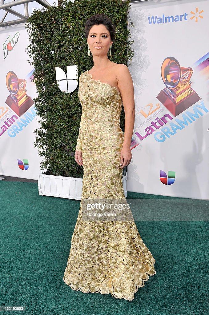 Actress Chiquinquira Delgado arrives at the 12th Annual Latin GRAMMY Awards held at the Mandalay Bay Resort Casino on November 10 2011 in Las Vegas...