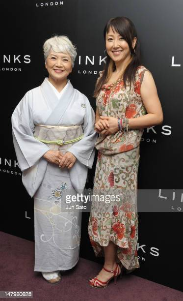Actress Chizuru Azuma and her mother Hideko Azuma attend the Links London Official Jewelery Collection of London 2012 reception on July 6 2012 in...