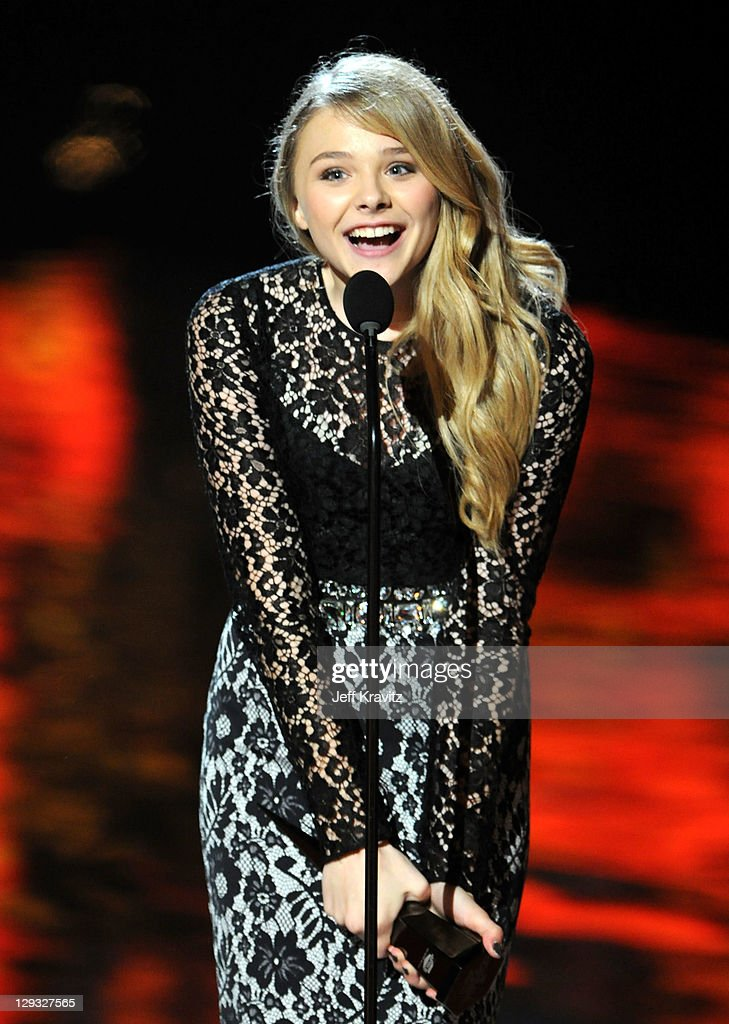 Actress Chloë Grace Moretz onstage during Spike TV's 'Scream 2011' at Universal Studios on October 15 2011 in Universal City California