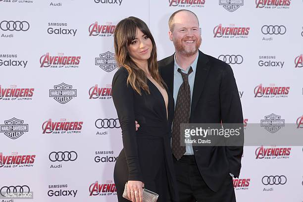 Actress Chloe Bennet and Writer/Director Joss Whedon attend the premiere of Marvel's 'Avengers Age Of Ultron' at Dolby Theatre on April 13 2015 in...