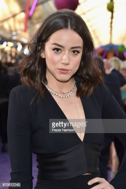 Actress Chloe Bennet arrives at the premiere of Disney and Marvel's 'Guardians Of The Galaxy Vol 2' at Dolby Theatre on April 19 2017 in Hollywood...