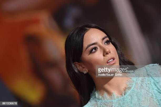 Actress Chloe Bennet arrives at the premiere of Disney and Marvel's 'Thor Ragnarok' at the El Capitan Theatre on October 10 2017 in Los Angeles...