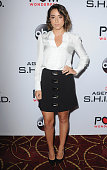 Actress Chloe Bennet arrives at the Premiere Of Marvel's 'Agents Of SHIELD' at Pacific Theatre at The Grove on September 23 2015 in Los Angeles...