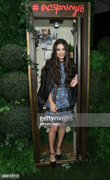 Actress Chloe Bennet attends Alice Olivia By Stacey Bendet fashion show New York Fashion Week The Shows at Gallery 2 Skylight Clarkson Sq on...