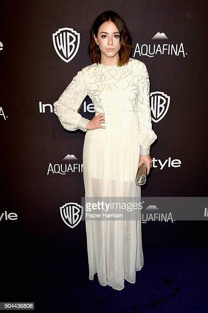 Actress Chloe Bennet attends InStyle and Warner Bros 73rd Annual Golden Globe Awards PostParty at The Beverly Hilton Hotel on January 10 2016 in...