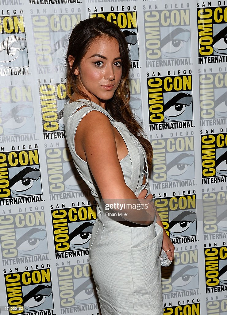 Actress Chloe Bennet attends Marvel's 'Agents of S.H.I.E.L.D.' press line during Comic-Con International 2013 at the Hilton San Diego Bayfront Hotel on July 19, 2013 in San Diego, California.