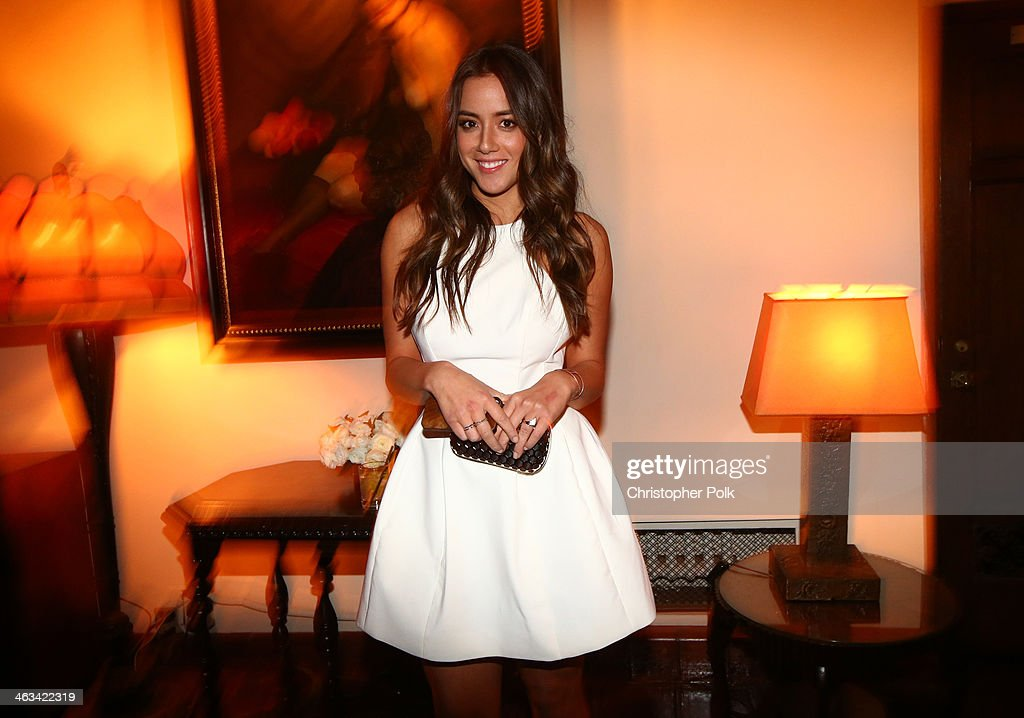 Actress <a gi-track='captionPersonalityLinkClicked' href=/galleries/search?phrase=Chloe+Bennet&family=editorial&specificpeople=10116680 ng-click='$event.stopPropagation()'>Chloe Bennet</a> attends the Entertainment Weekly celebration honoring this year's SAG Awards nominees sponsored by TNT & TBS and essie at Chateau Marmont on January 17, 2014 in Los Angeles, California.
