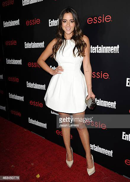 Actress Chloe Bennet attends the Entertainment Weekly SAG Awards preparty at Chateau Marmont on January 17 2014 in Los Angeles California