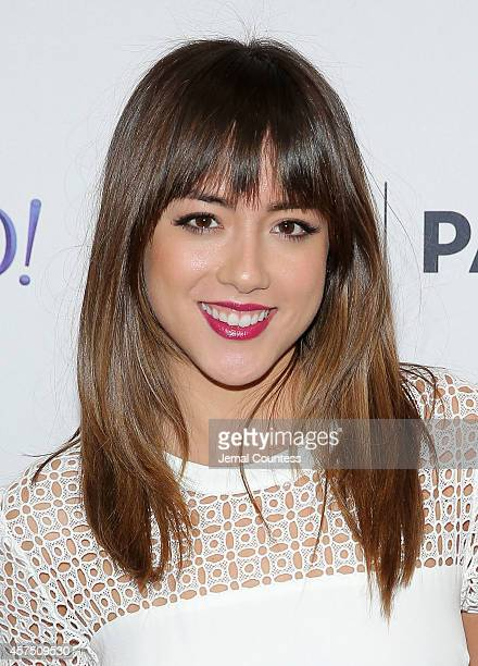 Actress Chloe Bennet attends the 'Marvel Agents Of SHIELD' premiere and panal discussion during the 2nd Annual Paleyfest New York at Paley Center For...