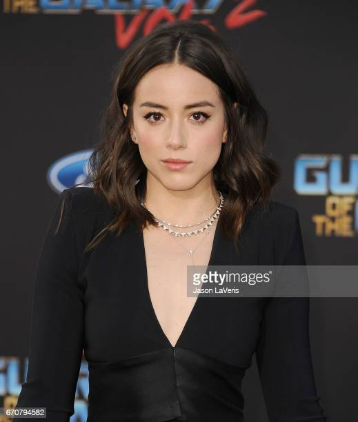 Actress Chloe Bennet attends the premiere of 'Guardians of the Galaxy Vol 2' at Dolby Theatre on April 19 2017 in Hollywood California