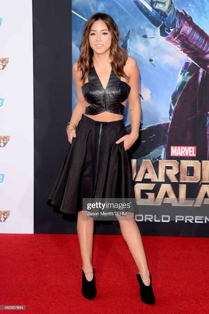 Actress <a gi-track='captionPersonalityLinkClicked' href=/galleries/search?phrase=Chloe+Bennet&family=editorial&specificpeople=10116680 ng-click='$event.stopPropagation()'>Chloe Bennet</a> attends the premiere of Marvel's 'Guardians Of The Galaxy' at the Dolby Theatre on July 21, 2014 in Hollywood, California.