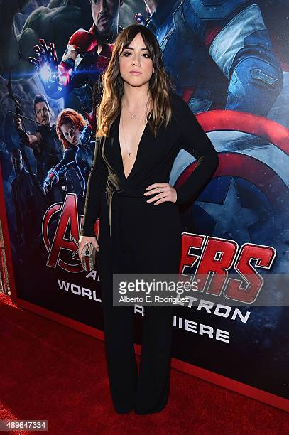Actress Chloe Bennet attends the world premiere of Marvel's 'Avengers Age Of Ultron' at the Dolby Theatre on April 13 2015 in Hollywood California