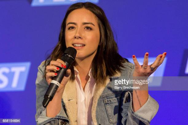 Actress Chloe Bennet during the Walker Stalker Con Chicago at the Donald E Stephens Convention Center on March 26 2017 in Rosemont Illinois