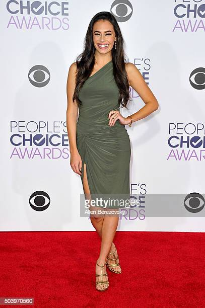 Actress Chloe Bridges arrives at the People's Choice Awards 2016 at Microsoft Theater on January 6 2016 in Los Angeles California