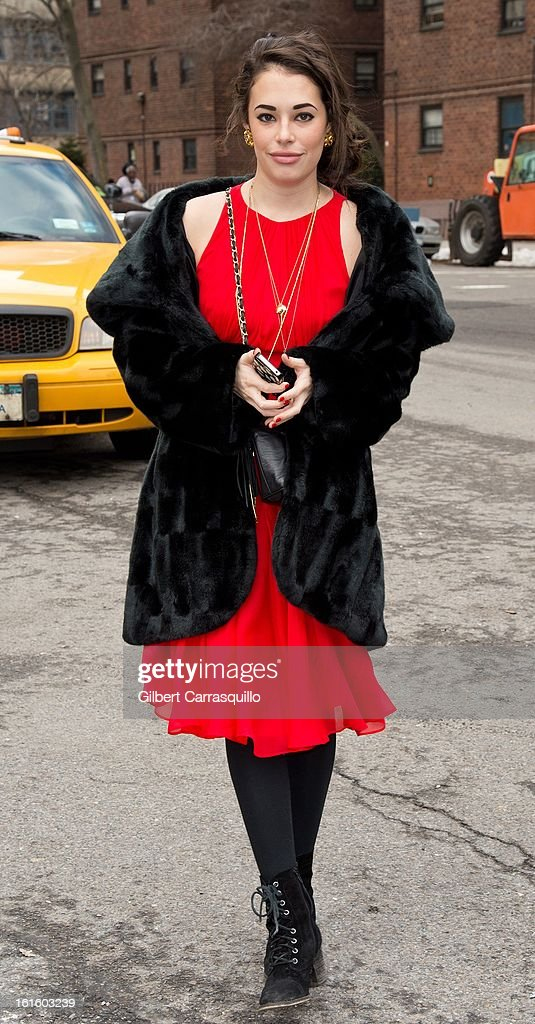 Actress Chloe Bridges attends Fall 2013 Mercedes-Benz Fashion Show at The Theater at Lincoln Center on February 12, 2013 in New York City.