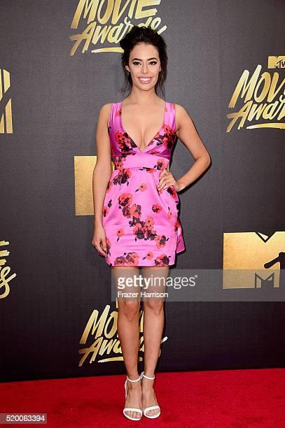 Actress Chloe Bridges attends the 2016 MTV Movie Awards at Warner Bros Studios on April 9 2016 in Burbank California MTV Movie Awards airs April 10...