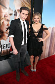 Actress Chloe Grace Moretz and Brooklyn Beckham attend the premiere of Universal Pictures' 'Neighbors 2 Sorority Rising' at the Regency Village...