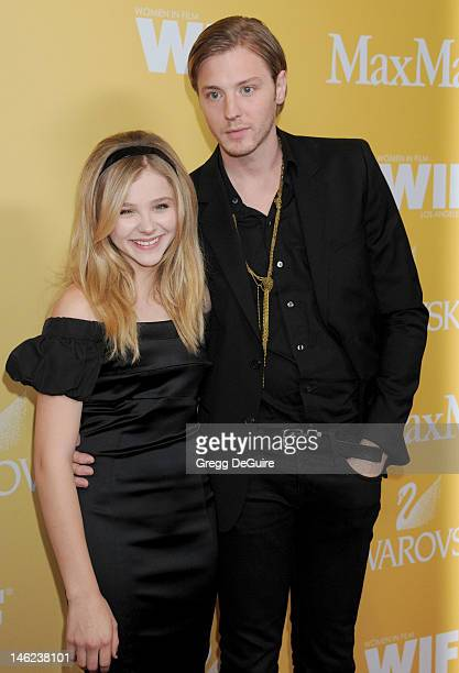 Actress Chloe Grace Moretz and brother Trevor DukeMoretz arrive at the 2012 Women In Film Crystal Lucy Awards at The Beverly Hilton Hotel on June 12...